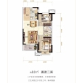 霸州溫泉新都孔雀城 兩居  戶型圖