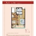 绿城蔚蓝公寓 两居 76㎡ 户型图