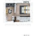 水星之城公寓 樣板間 一居室