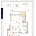 中海九峯里洋房95平3室 三居 95㎡ 戶型圖