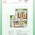武汉黄陂区天池雅园B2 两居 70㎡㎡ 户型图