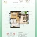 武汉黄陂区天池雅园A3 一居 50㎡㎡ 户型图