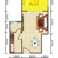 豐都雪玉山·四季香山華庭單間配套可以改一室一廳 一居 36~39平㎡ 戶型圖