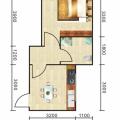 豐都雪玉山·四季香山華庭緊湊型一室一廳(單配) 一居 32~34平㎡ 戶型圖