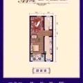 霸州麗水康城經典一居 一居 52平米㎡ 戶型圖