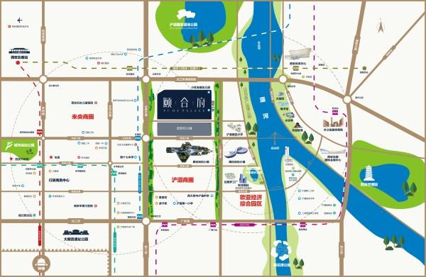 灞桥区总体规划图