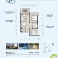 海陵岛荣盛山湖海舒适两室 一居 81平㎡ 户型图