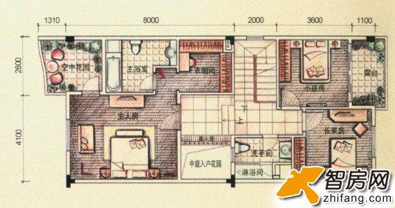 江山帝景 复式 户型图图片
