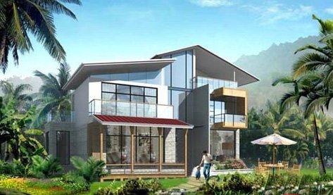 >五指山翡翠谷和calpe海景双拼楼盘哪个好公寓别墅图纸图片