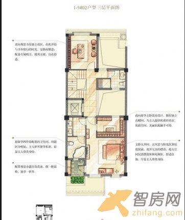 禹洲高尔夫 1-5#02户型三层平面图 一居 户型图图片