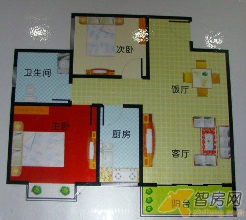 充东方夏威夷两室两厅单卫 两居72m2 南充东方夏威夷户型图